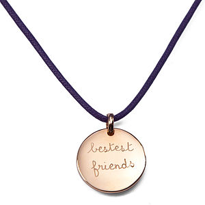 Personalised Disc Charm Necklace - wedding thank you gifts