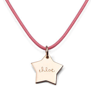 Personalised Star Charm Necklace - flower girl gifts