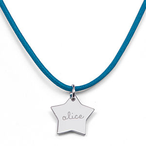 Children's Personalised Star Charm Necklace - women's jewellery