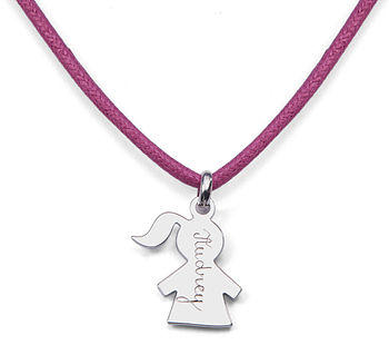 Children's Personalised Girl Charm Necklace
