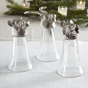 Set Of Three Shooting Party Shot Glasses