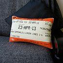 London Travelcard Cushion April