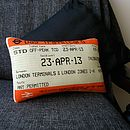 London Travelcard Cushion April