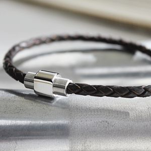 Men's Leather Plaited Bracelet - bracelets