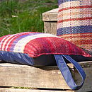 Thumb checked wool kneeler with waterproof backing
