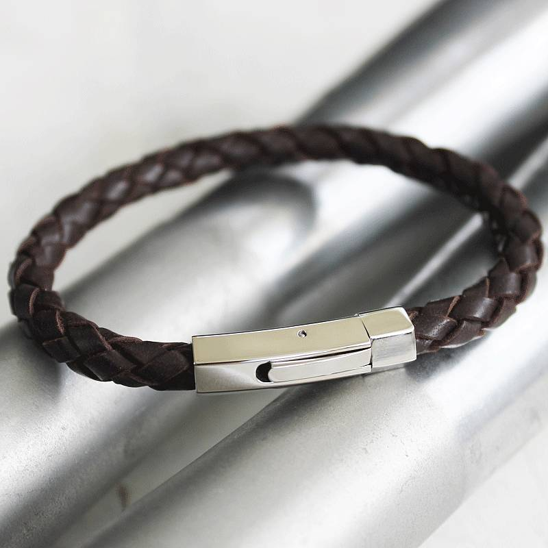 Men S Leather Bracelet