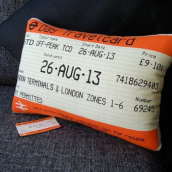 50% Off! London Travelcard Cushion August