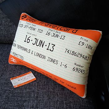 50% Off! London Travelcard Cushion June