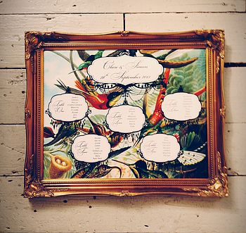 Bird Of Paradise Wedding Seating Plan