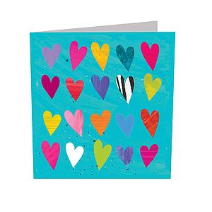 Hearts Card - mother's day cards