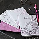 Girl's Pack of Four Notebooks