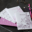 Girl's Pack of Four Notebooks