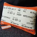 50% Off! Cambridge Train Ticket Cushion