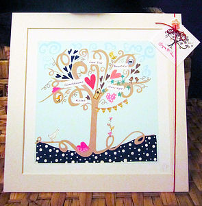 Personalised Word Tree - pictures, prints & paintings
