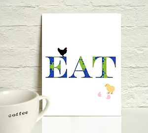 'Eat' Typography Art Print