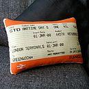 50% Off! Greenwich Train Ticket Cushion