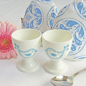 Oiseau Egg Cup And Cosy Set - egg cups & cosies