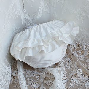 Frilly Silk Nappy Pants - christeningwear