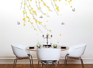 Trailing Blossom Wall Sticker - wall stickers