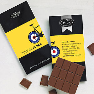 Wiggins Cycling Tribute Chocolate Bar - stocking fillers under £15