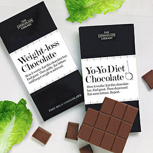 'Weight Loss' Chocolate - card alternatives