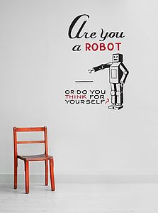 Robot Wall Sticker - kitchen