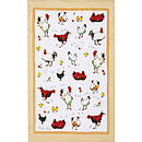 Chick Chick Chicken Linen Tea Towel