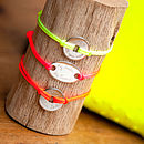 Personalised Neon Friendship Bracelet