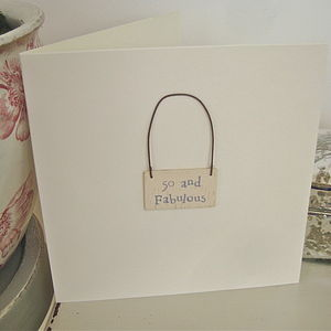 '50 And Fabulous' Handmade Card - birthday cards
