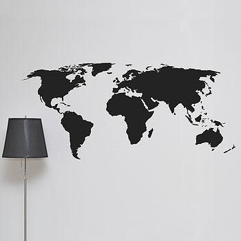 World Map Wall Sticker