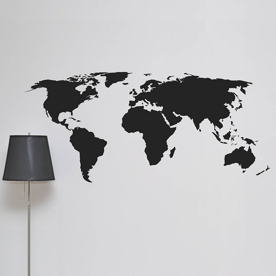 Charmant World Map Wall Sticker