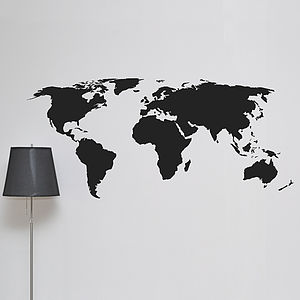 World Map Wall Sticker - wall stickers