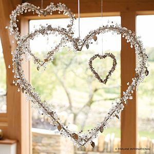 Beads And Leaves Heart Wreath - trees & flowers