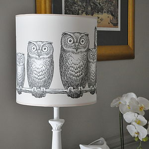 Owls Lampshade - home & garden