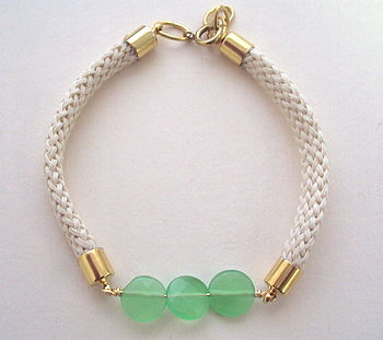 Green quartz rope bracelet