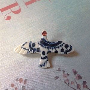 Dove Hand Painted Brooch