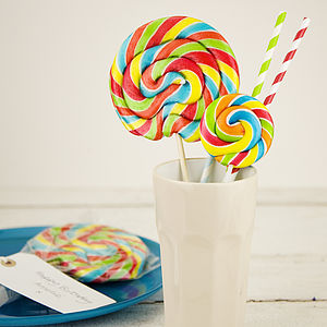 Rainbow Swirly Lollipops