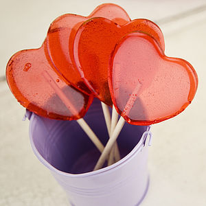 Sweetheart Lollipops - stocking fillers under £15