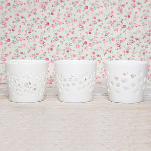 Porcelain Tea Light Holder - candles & candle holders