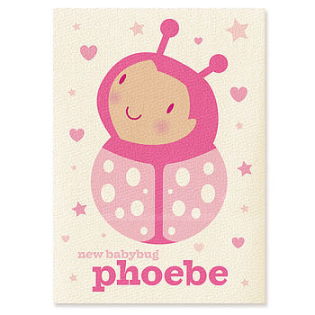 Personalised Baby Bug Card