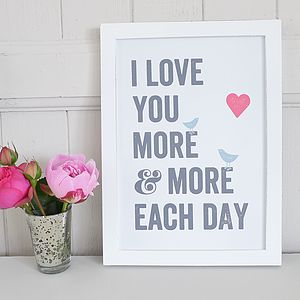 'I Love You More' Framed Picture