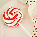 Red And White Swirly Lollipops