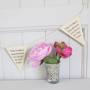'Time To Drink Champagne' Printed Bunting