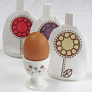 Flower Garden Egg Cup And Cosy Set - kitchen