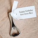 Personalised Birthday Bottle Opener And Tag