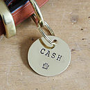 Personalised Brass Dog Name Tag