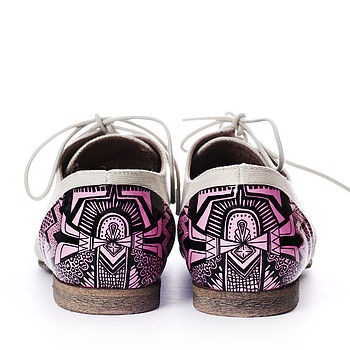 Geometric Hand Illustrated Shoes