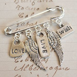 Love Live And Wish Brooch - women's jewellery