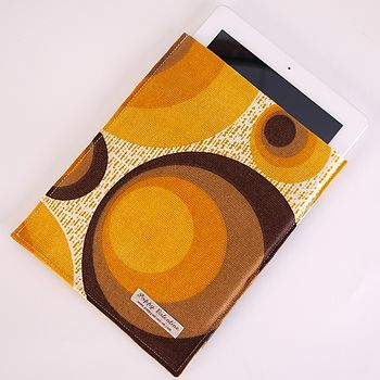 Tangerine Dream Vintage Fabric Case For IPad