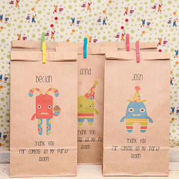 Personalised Mini Monsters Party Bag